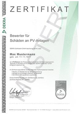 dekra zertifizierter schadenbewerter f r photovoltaik. Black Bedroom Furniture Sets. Home Design Ideas